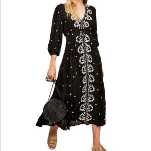 Free People Embroidered Fable Midi Maxi Dress